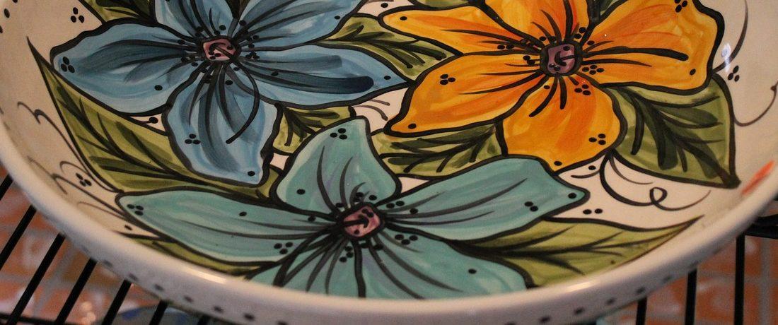 Rainbow Pottery Bowls