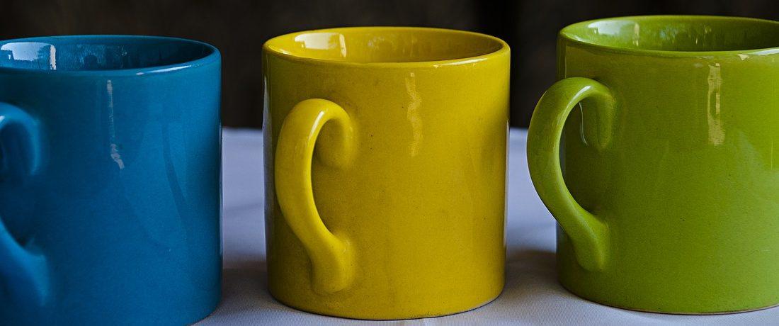 Rainbow Pottery Cups